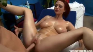 Massage with sex on a redhead